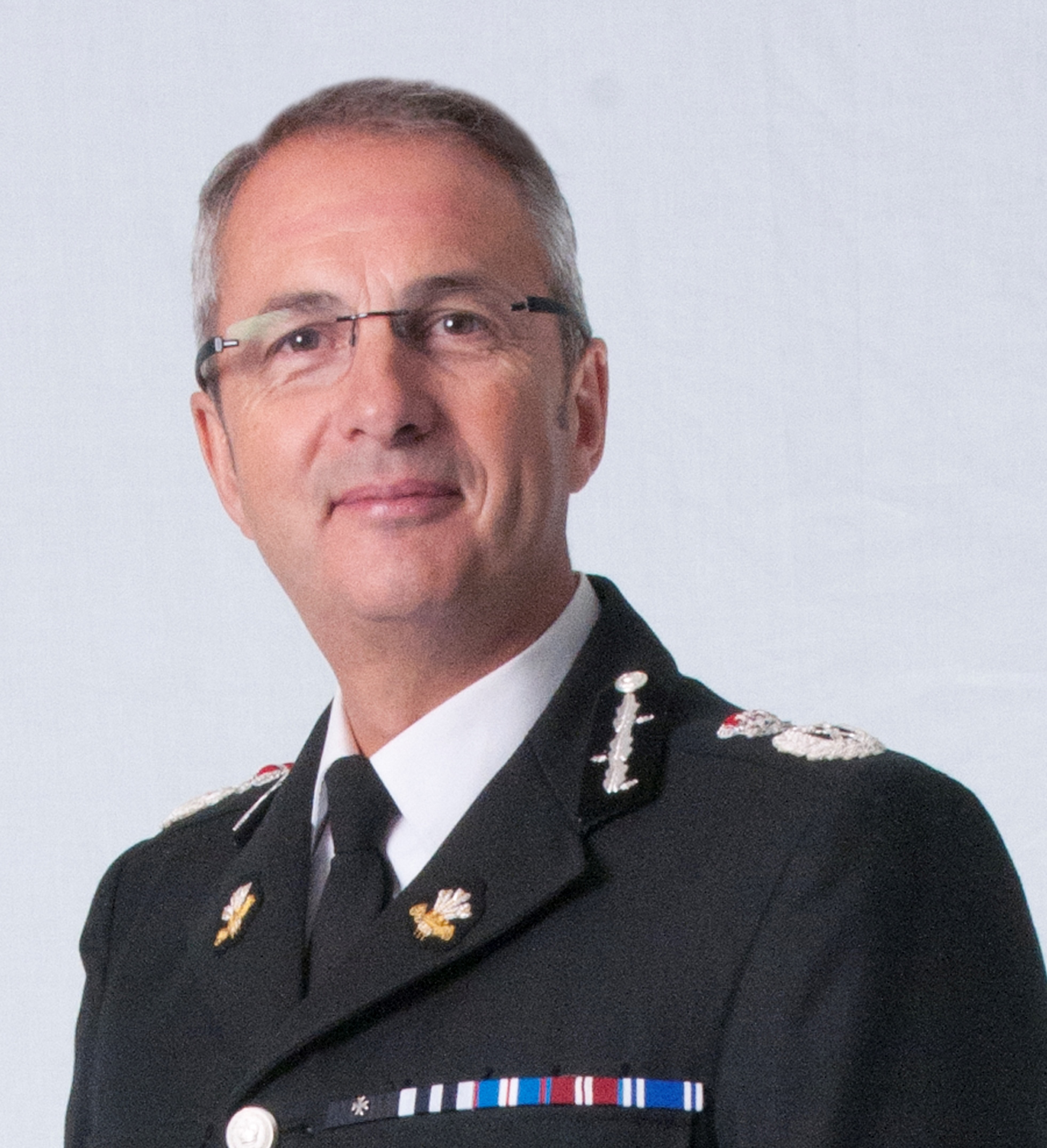 Chief Constable Peter Vaughan portrait photo