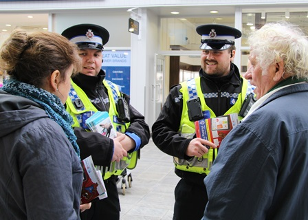 Cyber Crime Week Bridgend leaflets