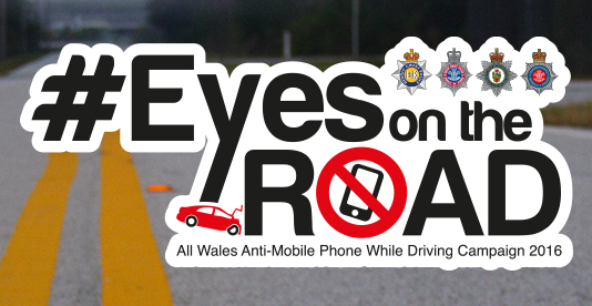 Anti-mobile phone + driving campaign graphic