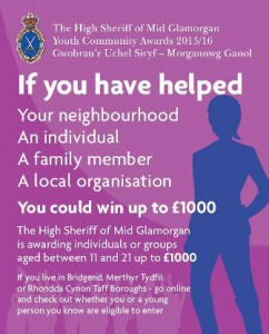 High Sheriff Awards 2015-16 poster