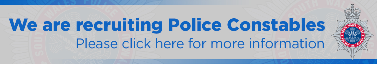 We are recruiting Police Constables banner