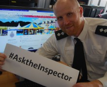 Inspector Rob Miles is taking to Twitter on 5 July, 2016. Join in the conversation and #AsktheInspector