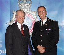 Police and Crime Commissioner Alun Michael and Chief Constable Peter Vaughan