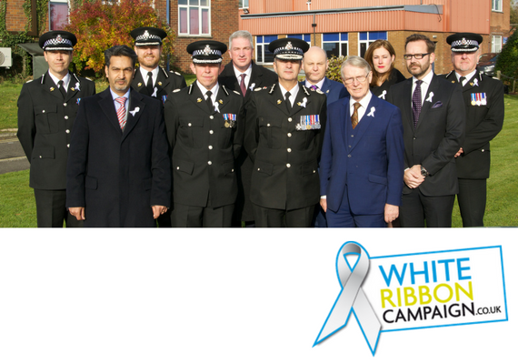 Chief Officers and Commissioner's Team wearing their white ribbons